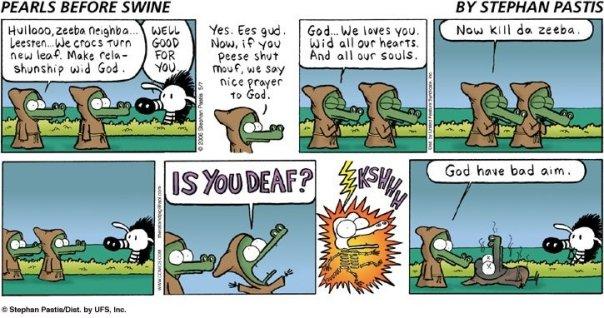 Pearls Before Swine - God and Crocs