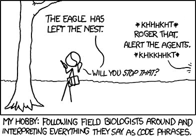 XKCD - Field Biologists