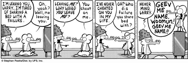 Pearls Before Swine - Sharing a bed with a failure