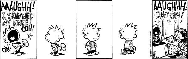 Calvin and Hobbes - Skinned knee