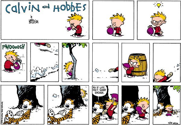 Calvin and Hobbes - Water balloon