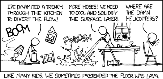 XKCD - The floor is made of lava