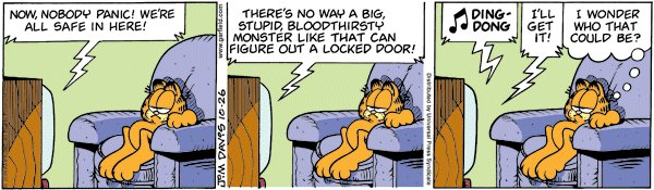 Garfield - Locked door