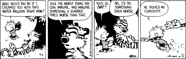Calvin and Hobbes - Curiosity