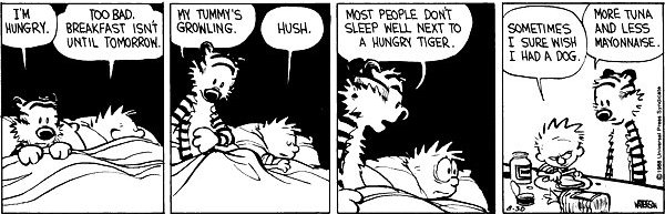 Calvin and Hobbes - Hungry tiger