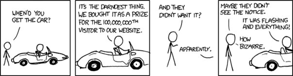 XKCD - 100000000th Visitor