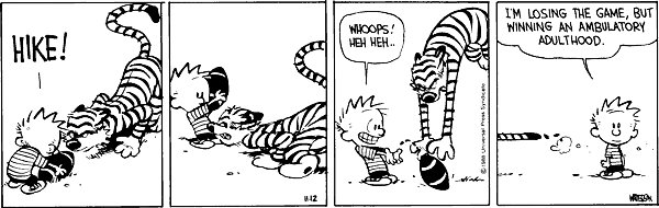 Calvin and Hobbes - Losing the game