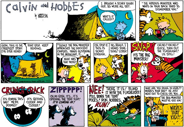 Calvin and Hobbes - A Scary Story