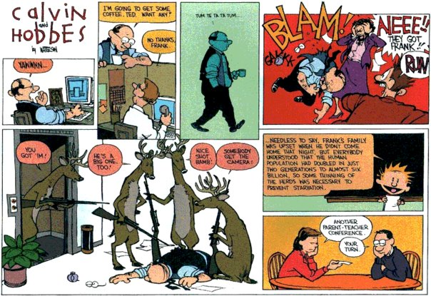 Calvin and Hobbes - Another Parent-Teacher conference