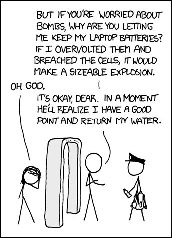 XKCD - Airport Security