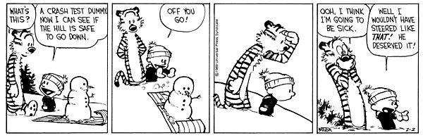 Calvin and Hobbes - Crash testing
