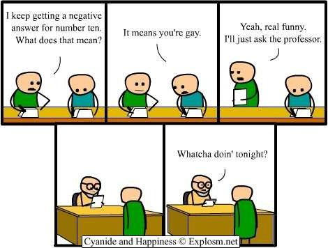 Cyanide and Happiness - Negative answer