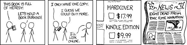 XKCD - Book Burning