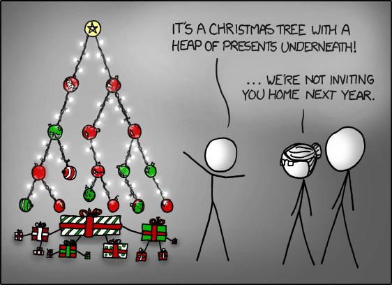 XKCD - Binary Christmas Tree