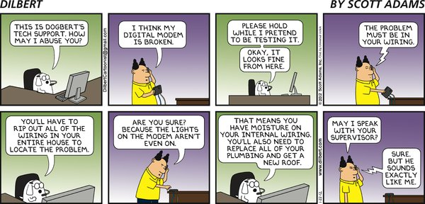 Dilbert - Dogbert's Tech Support