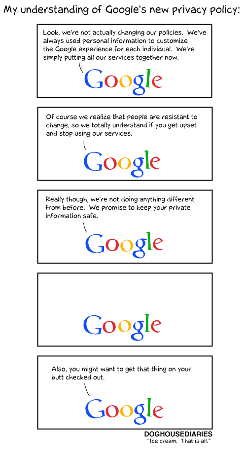 Doghouse Diaries - Google's new privacy policy
