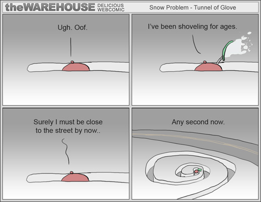 The Warehouse - Snow shoveling