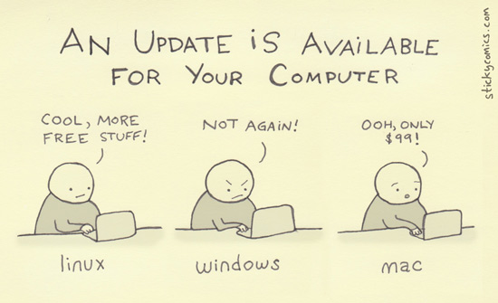 Sticky Comics - Update your computer