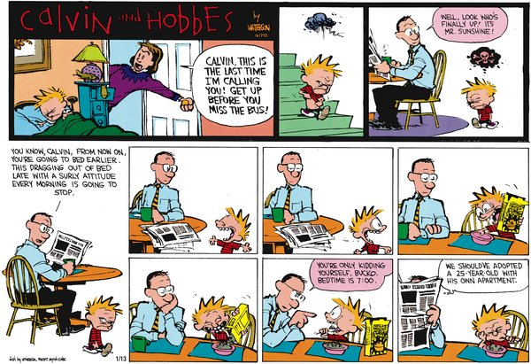 Calvin and Hobbes - Surly Attitude