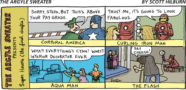 The Argyle Sweater - Super Heroes