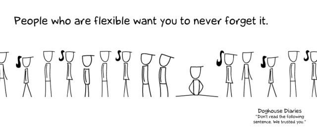 Doghouse Diaries - Flexible People