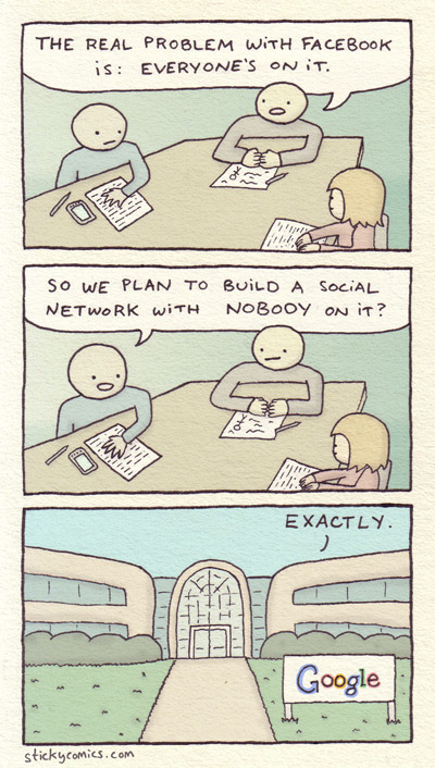Sticky Comics - The problem with Facebook
