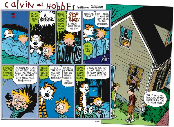 Calvin and Hobbes - The plants on this side