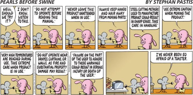 Pearls Before Swine - Disclaimer