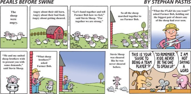 Pearls Before Swine - Guide to being a team player