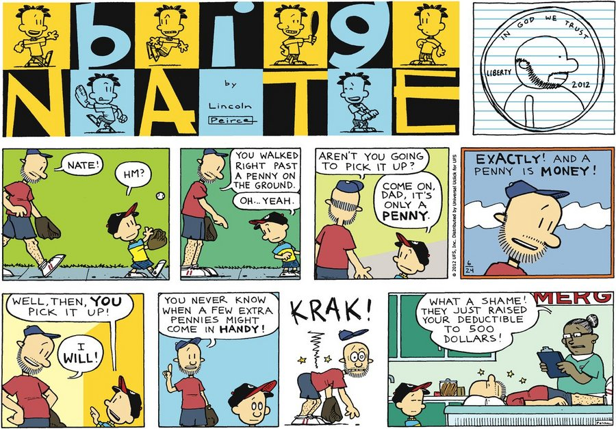 big nate Check out big nate's antics everyday of the week gocomicscom has a new big nate comic everyday and a special full color edition every sunday check out his adventures in school, with his friends and his run-in's with his nemesis gina.