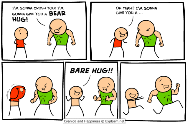 Cyanide and Happiness - Not so tough now, huh