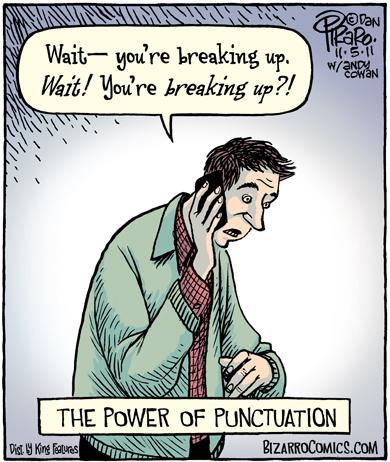 Bizarro - The power of punctuation