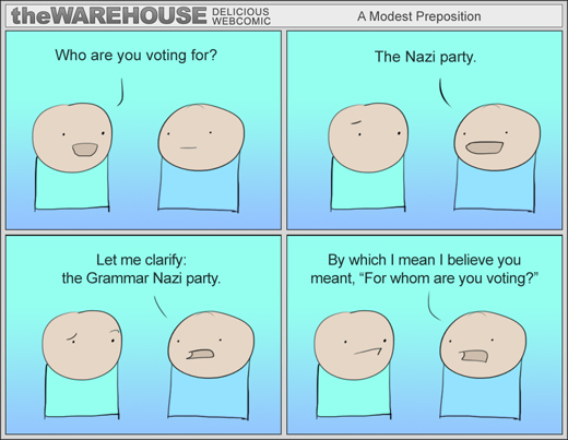 The Warehouse - Grammar Nazi