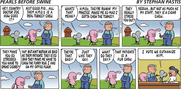 Pearls Before Swine - Pun, Patience is a virtue