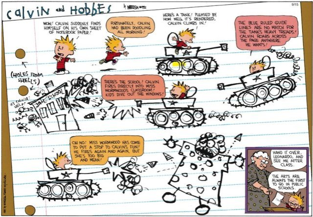 Calvin and Hobbes - Picasso