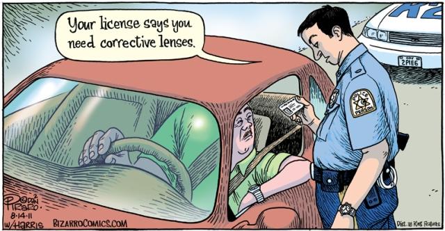 Bizarro - Corrective lenses