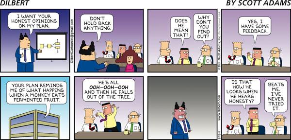 Dilbert - Honesty is overrated