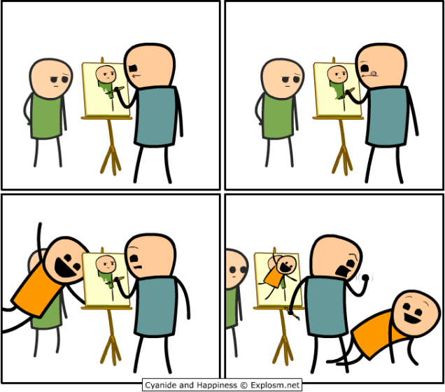 Cyanide and Happiness - Photobomb