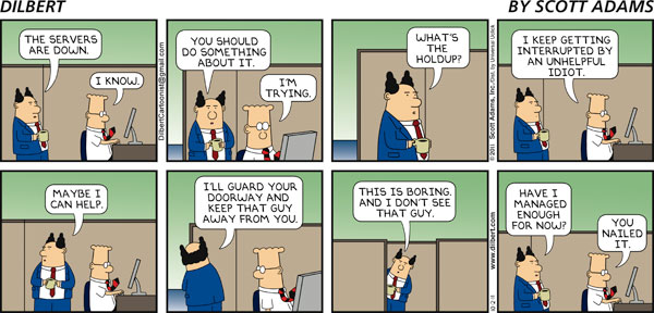 Dilbert - Nailed it