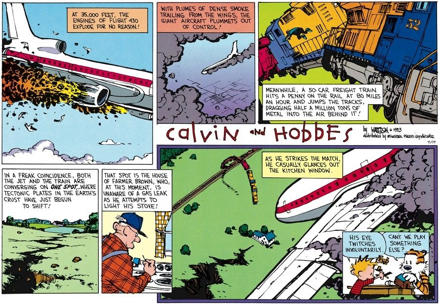 Calvin And Hobbes Comic Strip Porn - Eye Twitch: Farmer Brown experiences one ...