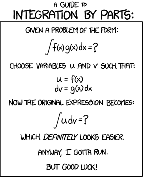 XKCD - Your guide to integration