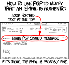 XKCD - Your guide to PGP