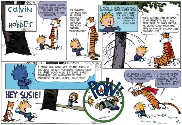 Calvin and Hobbes - Questions, questions...